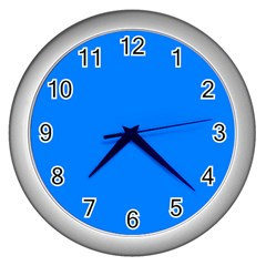 Azure Wall Clocks (silver)  by SimplyColor