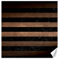 Stripes2 Black Marble & Bronze Metal Canvas 16  X 16  by trendistuff