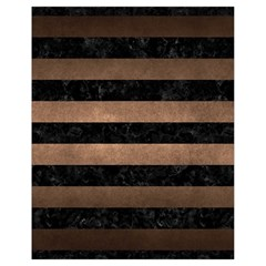 Stripes2 Black Marble & Bronze Metal Drawstring Bag (small) by trendistuff