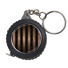 Stripes1 Black Marble & Bronze Metal Measuring Tape by trendistuff