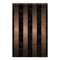 Stripes1 Black Marble & Bronze Metal Shower Curtain 48  X 72  (small) by trendistuff