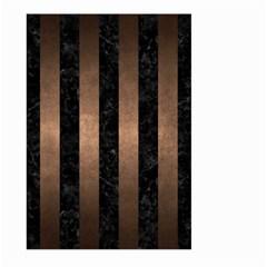 Stripes1 Black Marble & Bronze Metal Large Garden Flag (two Sides) by trendistuff