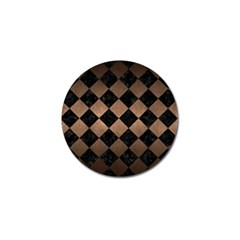 Square2 Black Marble & Bronze Metal Golf Ball Marker (4 Pack)