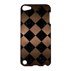 Square2 Black Marble & Bronze Metal Apple Ipod Touch 5 Hardshell Case by trendistuff