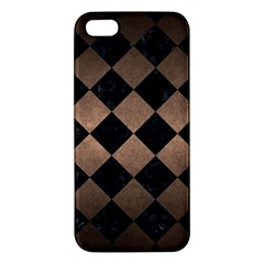 Square2 Black Marble & Bronze Metal Apple Iphone 5 Premium Hardshell Case by trendistuff