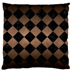 Square2 Black Marble & Bronze Metal Standard Flano Cushion Case (one Side) by trendistuff