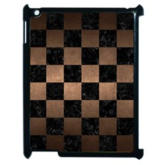 Square1 Black Marble & Bronze Metal Apple Ipad 2 Case (black) by trendistuff