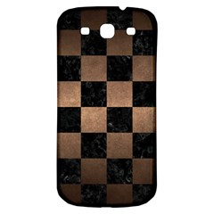 Square1 Black Marble & Bronze Metal Samsung Galaxy S3 S Iii Classic Hardshell Back Case by trendistuff
