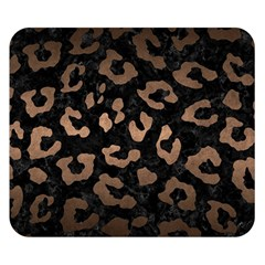 Skin5 Black Marble & Bronze Metal (r) Double Sided Flano Blanket (small) by trendistuff