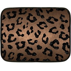 Skin5 Black Marble & Bronze Metal Double Sided Fleece Blanket (mini)