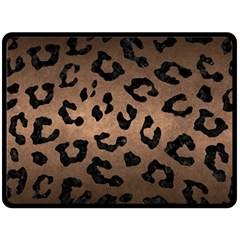 Skin5 Black Marble & Bronze Metal Double Sided Fleece Blanket (large) by trendistuff
