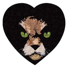 Cat  Jigsaw Puzzle (heart) by Valentinaart