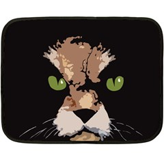 Cat  Double Sided Fleece Blanket (mini)  by Valentinaart