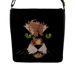 Cat  Flap Messenger Bag (l)  by Valentinaart
