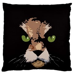 Cat  Large Flano Cushion Case (two Sides) by Valentinaart