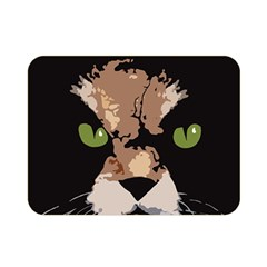 Cat  Double Sided Flano Blanket (mini)  by Valentinaart