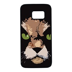 Cat  Samsung Galaxy S7 Black Seamless Case by Valentinaart