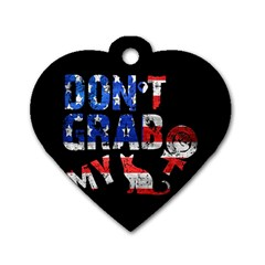 Dont Grab My Dog Tag Heart (two Sides) by Valentinaart