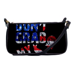 Dont Grab My Shoulder Clutch Bags by Valentinaart