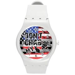 Dont Grab My Round Plastic Sport Watch (m) by Valentinaart