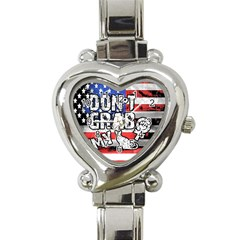 Dont Grab My Heart Italian Charm Watch by Valentinaart