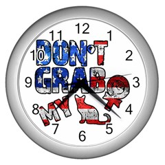 Dont Grab My Wall Clocks (silver)  by Valentinaart
