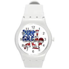 Dont Grab My Round Plastic Sport Watch (m) by Valentinaart
