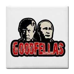 Goodfellas Putin And Trump Tile Coasters by Valentinaart