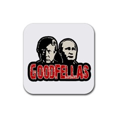 Goodfellas Putin And Trump Rubber Square Coaster (4 Pack)  by Valentinaart