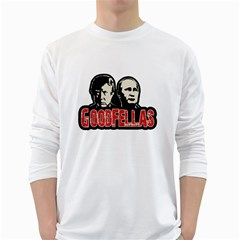 Goodfellas Putin And Trump White Long Sleeve T Shirts by Valentinaart