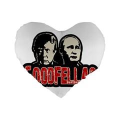 Goodfellas Putin And Trump Standard 16  Premium Heart Shape Cushions by Valentinaart