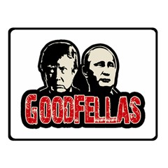 Goodfellas Putin And Trump Double Sided Fleece Blanket (small)  by Valentinaart