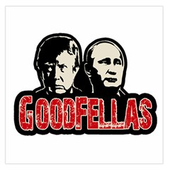 Goodfellas Putin And Trump Large Satin Scarf (square) by Valentinaart