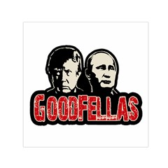 Goodfellas Putin And Trump Small Satin Scarf (square) by Valentinaart