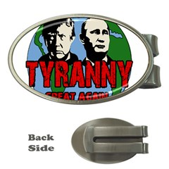 Make Tyranny Great Again Money Clips (oval)  by Valentinaart