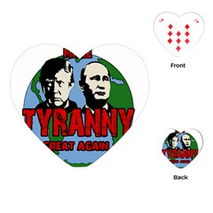 Make Tyranny Great Again Playing Cards (heart)  by Valentinaart