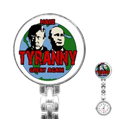 Make Tyranny Great Again Stainless Steel Nurses Watch by Valentinaart
