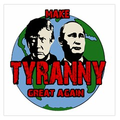 Make Tyranny Great Again Large Satin Scarf (square) by Valentinaart