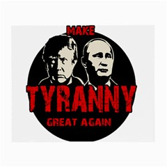 Make Tyranny Great Again Small Glasses Cloth (2 Side) by Valentinaart