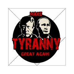 Make Tyranny Great Again Acrylic Tangram Puzzle (6  X 6 ) by Valentinaart
