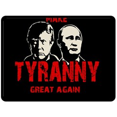 Make Tyranny Great Again Double Sided Fleece Blanket (large)  by Valentinaart