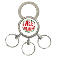 Watermelon   Sweet Summer 3 Ring Key Chains by Valentinaart