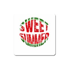 Watermelon   Sweet Summer Square Magnet by Valentinaart