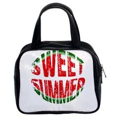 Watermelon   Sweet Summer Classic Handbags (2 Sides) by Valentinaart