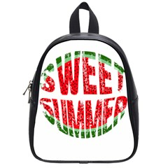 Watermelon   Sweet Summer School Bags (small)  by Valentinaart
