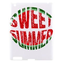 Watermelon   Sweet Summer Apple Ipad 3/4 Hardshell Case by Valentinaart