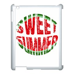 Watermelon   Sweet Summer Apple Ipad 3/4 Case (white) by Valentinaart
