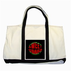 Watermelon   Sweet Summer Two Tone Tote Bag by Valentinaart