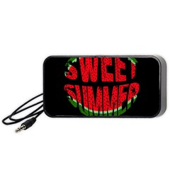Watermelon   Sweet Summer Portable Speaker (black) by Valentinaart