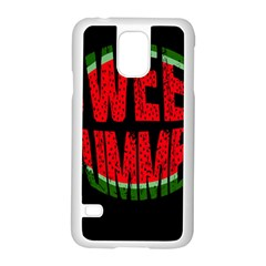 Watermelon   Sweet Summer Samsung Galaxy S5 Case (white) by Valentinaart